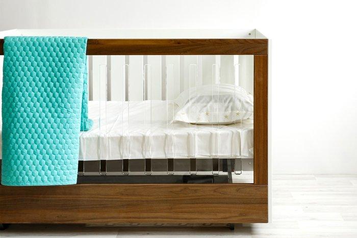 Кроватка Roh Walnut Acryl коричневого цвета