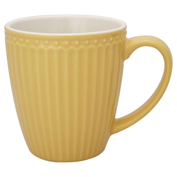 Кружка Alice honey mustard из фарфора