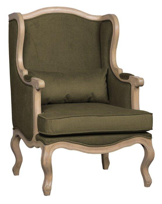Кресло Сезарина серо-зеленого цвета