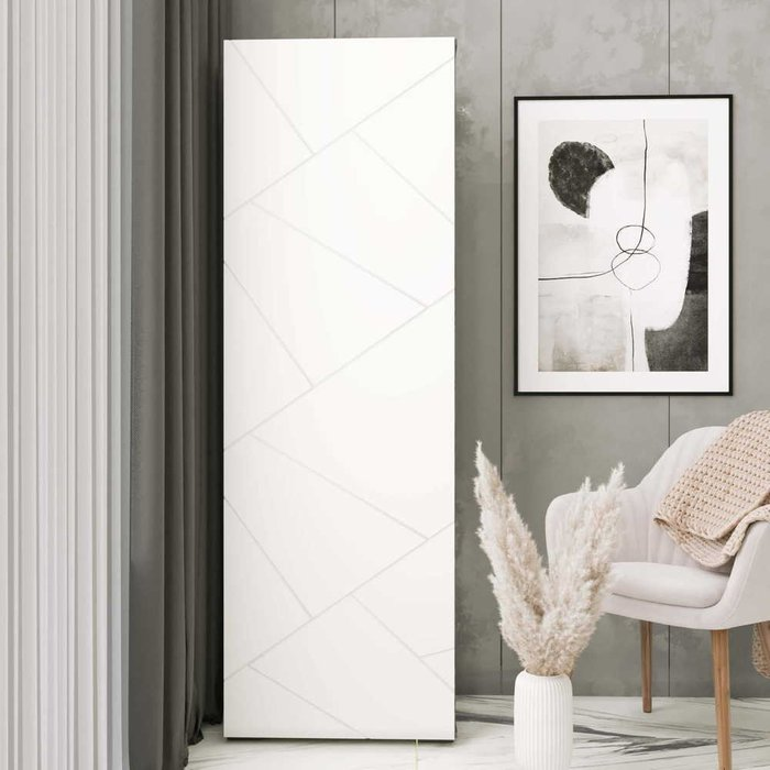 Шкаф распашной левый Селеста с белым фасадом