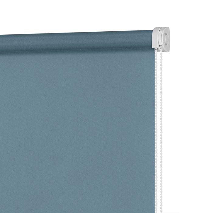 Рулонная штора Миниролл Плайн пастельно-бирюзового цвета 120x160