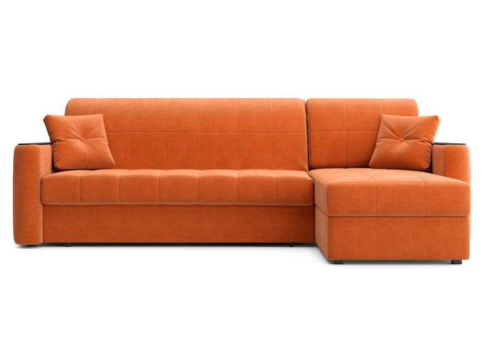Угловой диван-кровать Ницца оранжевого цвета