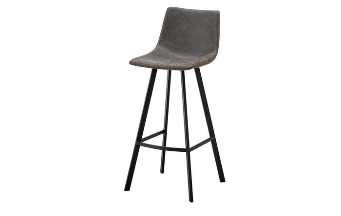 Барный стул серого цвета