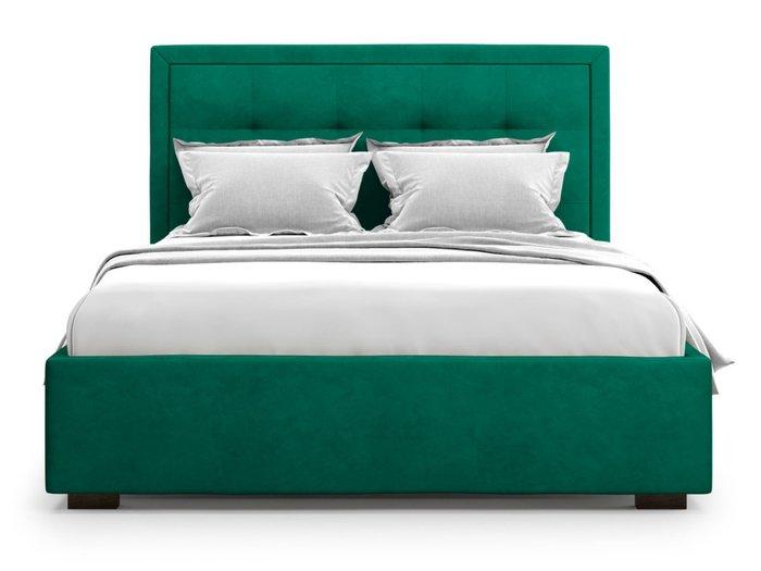 Кровать Komo 160х200 зеленого цвета с подъемным механизмом
