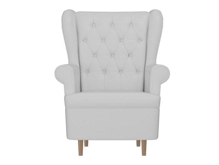 Кресло Торин Люкс белого цвета (экокожа)