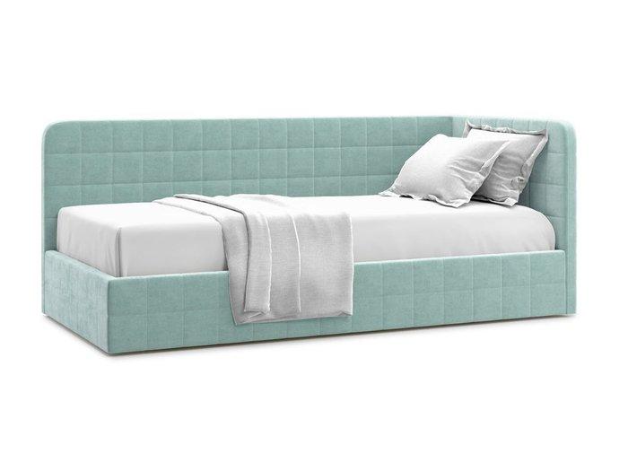 Кровать с подъемным механизмом Tichina 90х200 мятного цвета