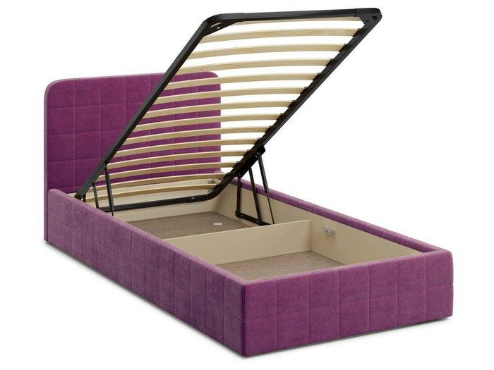 Кровать с подъемным механизмом Adda 120х200 фиолетового цвета