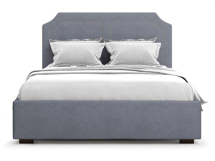 Кровать с подъемным механизмом Lago 160х200 серого цвета