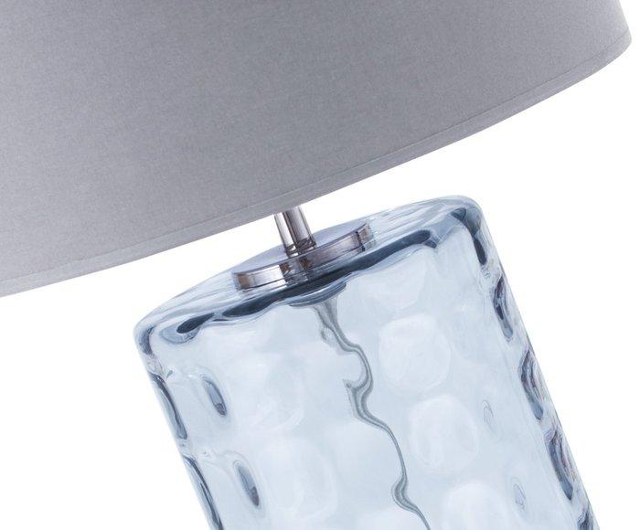 Настольная лампа серого цвета