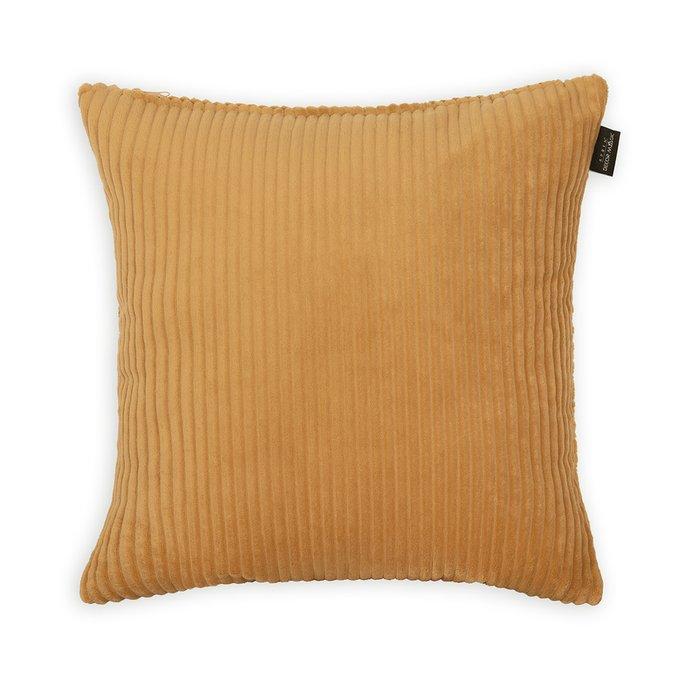 Декоративная подушка Cilium Umber желтого цвета