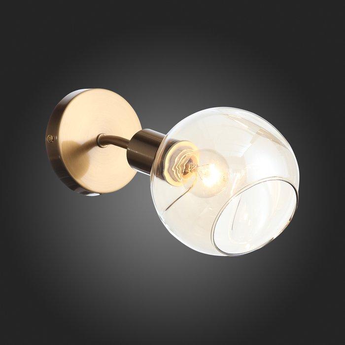 Светильник настенный Gentore с янтарным плафоном