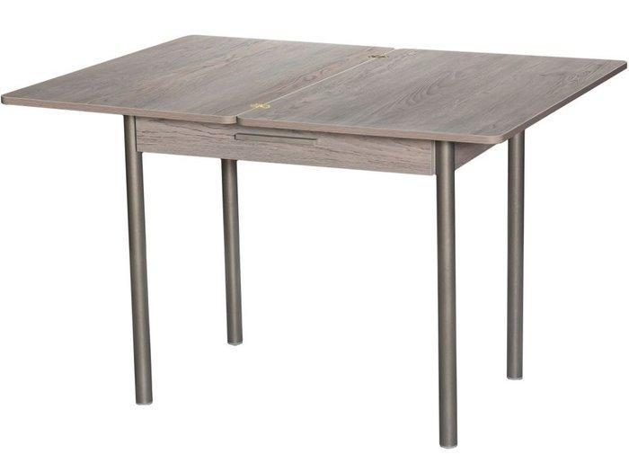 Стол раздвижной серо-бежевого цвета