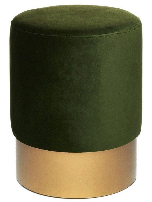 Пуф на золотом основании Domane болотного цвета