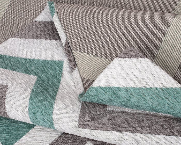 Ковер Line Willy серо-ментолового цвета 135х200