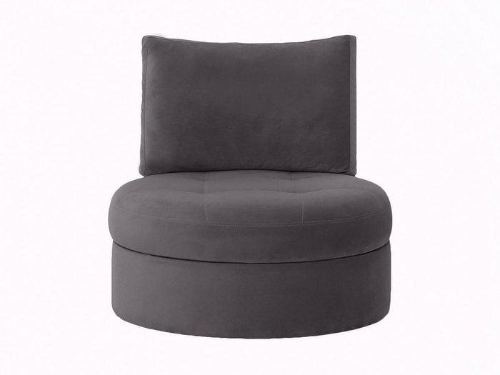 Кресло Wing Round серого цвета