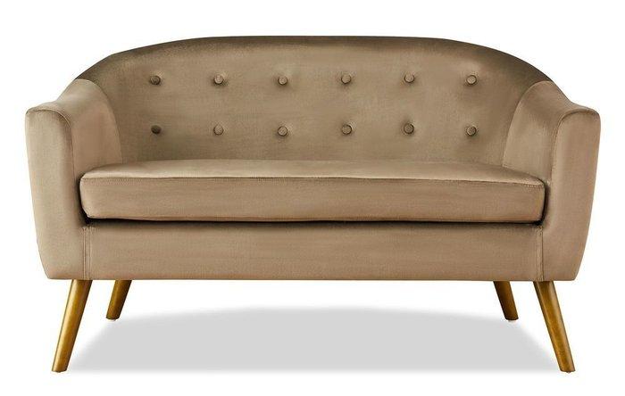 Прямой диван Florence M коричневого цвета