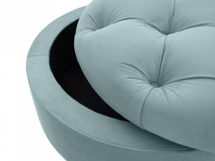 Пуф Meggi серо-синего цвета с емкостью для хранения