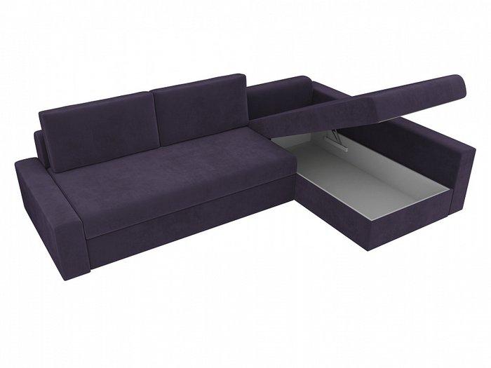 Угловой диван-кровать Версаль фиолетового цвета