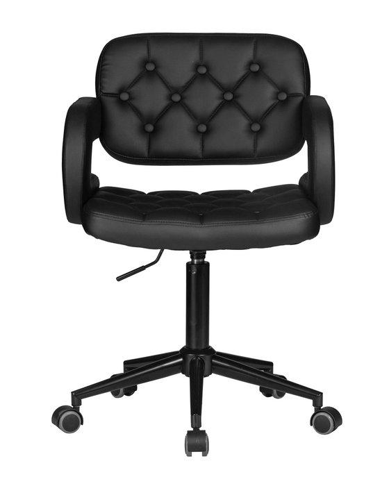 Офисное кресло для персонала Larry черного цвета