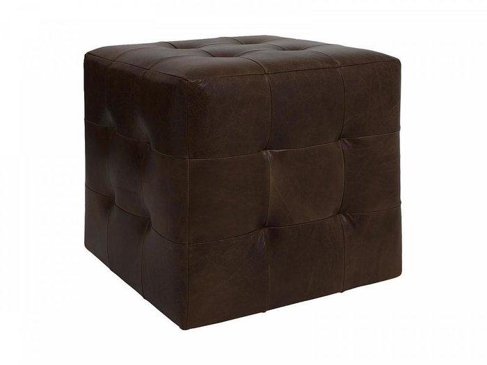 Пуф Brick Max с обивкой из натуральной кожи