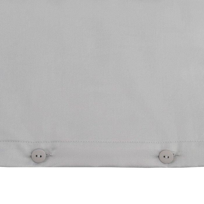 Комплект постельного белья из сатина светло-серого цвета 110х140