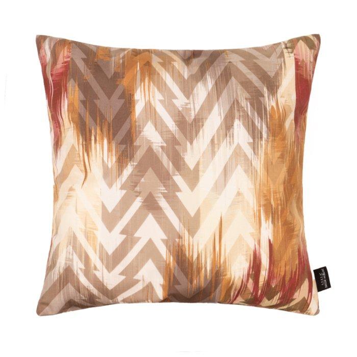 Декоративная подушка Zetta Brown 45х45 бежево-коричневого цвета