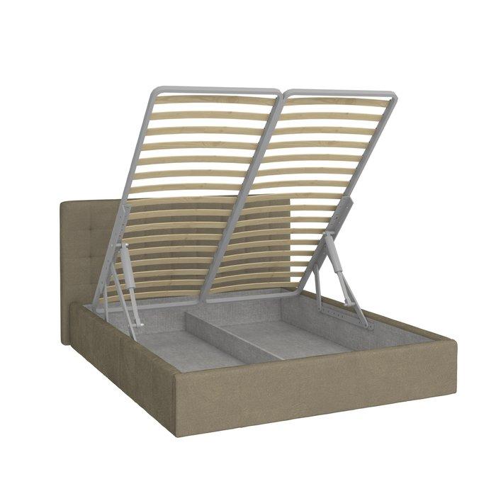 Кровать Инуа 180х200 темно-серого цвета с подъемным механизмом