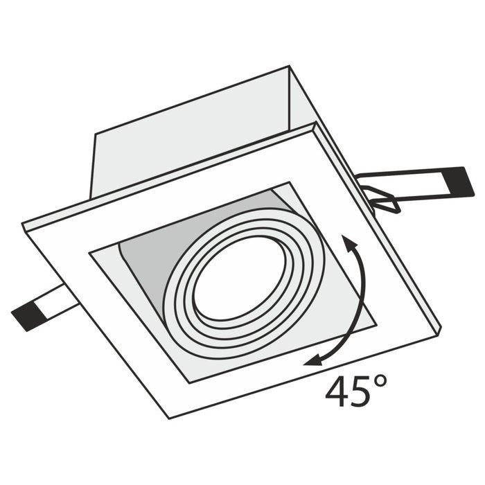 Встраиваемый светильник Metal Modern черного цвета
