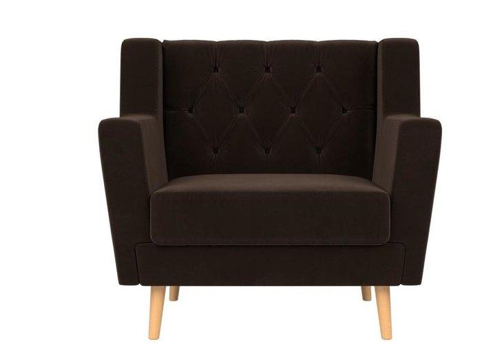 Кресло Брайтон Люкс темно-коричневого цвета