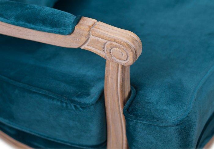 Кресло Nitro blue natural синего цвета