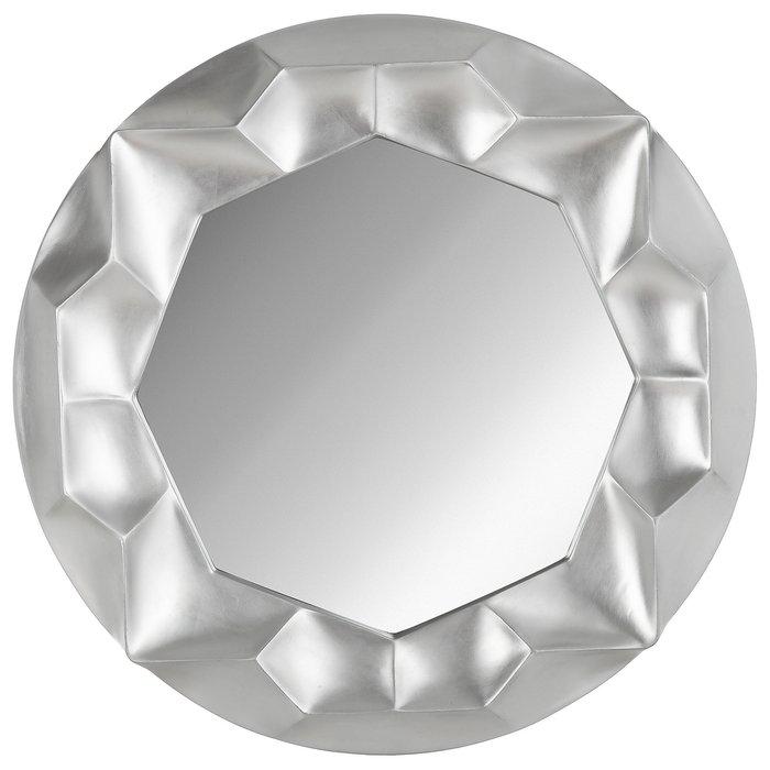 Зеркало настенное Монтрё серебряного цвета