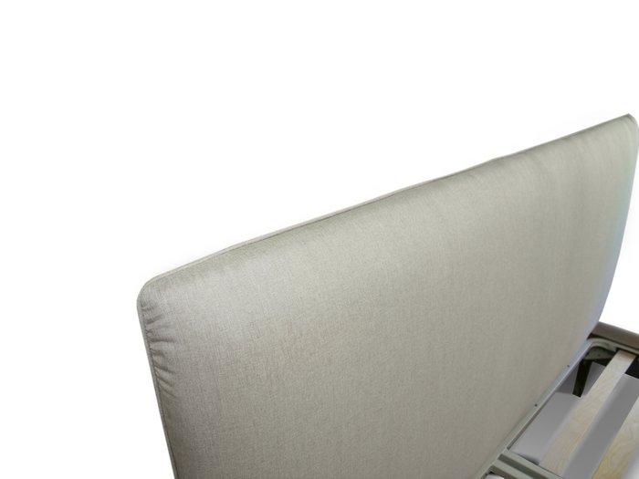 Кровать Эмбер 200х200 серого цвета