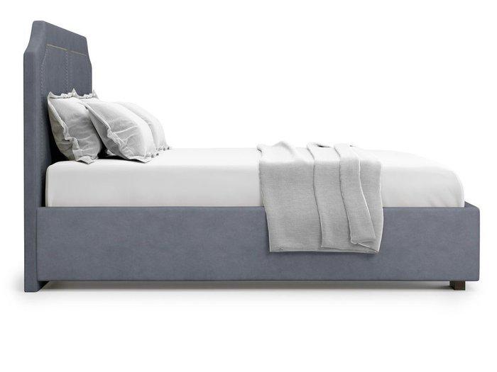 Кровать с подъемным механизмом Lago 180х200 серого цвета