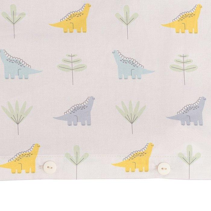 Комплект постельного белья с принтом dinosauria world из сатина 110х140