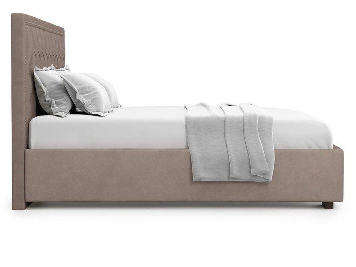 Кровать с подъемным механизмом Orto 180х200 темно-бежевого цвета