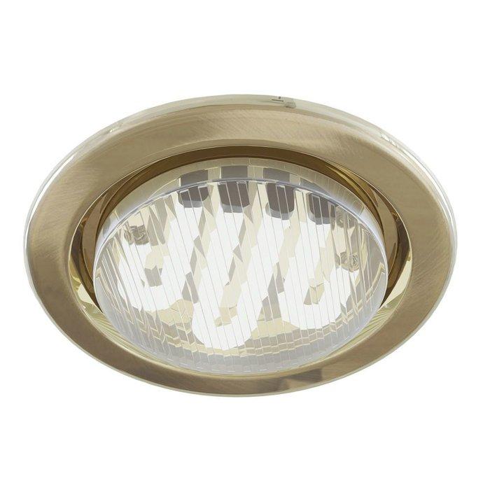 Встраиваемый светильник Metal Modern цвета латунь