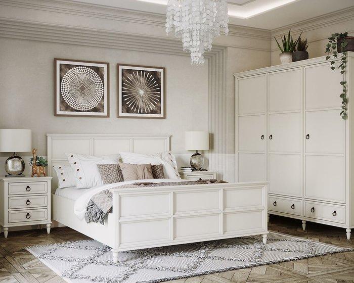 Кровать  Vilton с изножьем цвета слоновой кости 180х200