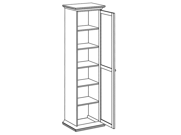 Шкаф однодверный белого цвета