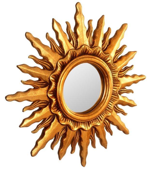 Настенное Зеркало-солнце Mirax Gold
