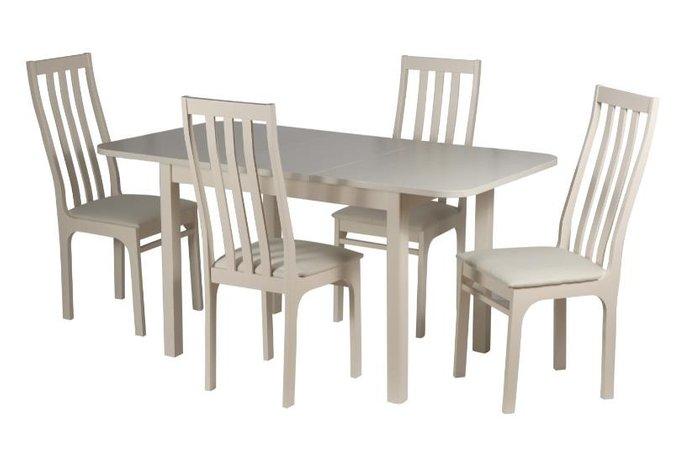 Раскладной обеденный стол Франц бежевого цвета