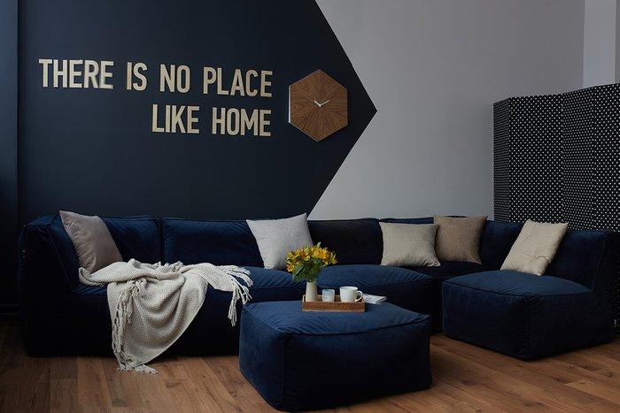 Модульный диван Alfred темно-синего цвета