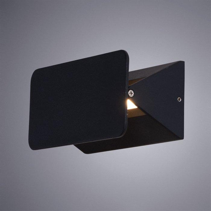 Уличный настенный светильник Elvin черного цвета