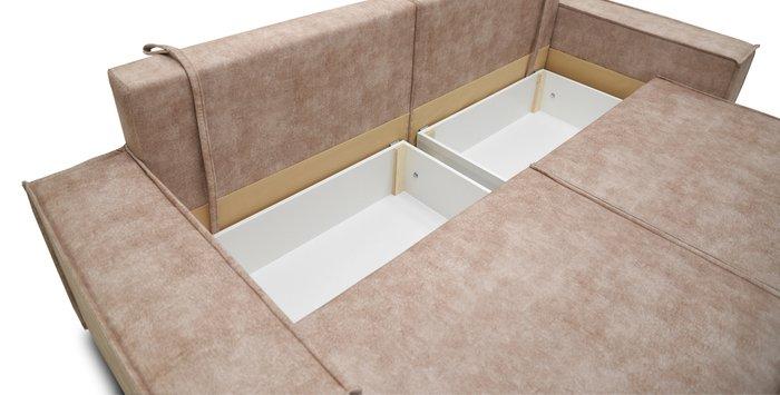 Прямой диван-кровать Фабио темно-бежевого цвета