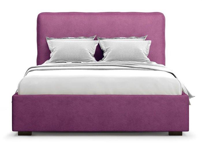 Кровать Brachano 160х200 фиолетового цвета