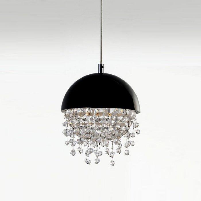 Подвесной светильник Illuminati Aquarius с черным металлическим плафоном