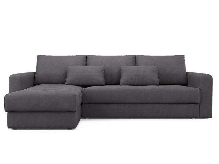 Угловой диван-кровать левый Ruiz темно-серого цвета