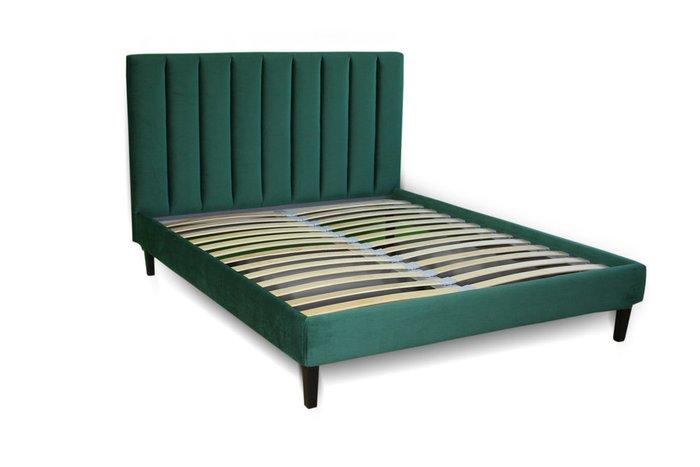 Кровать Клэр 160х200 зеленого цвета с подъемным механизмом
