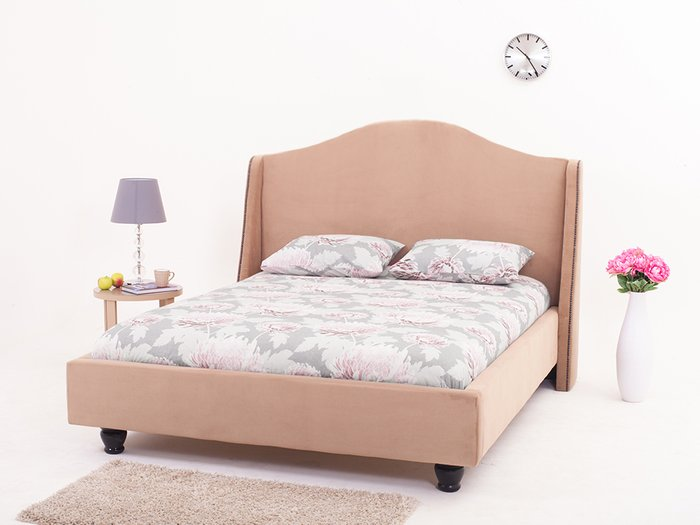 """Кровать """"Soul"""" с высокой спинкой и декоративными элементами 200х200"""