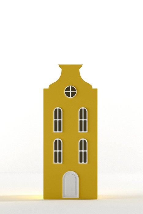 Шкаф-домик Брюссель Mini жёлтого цвета