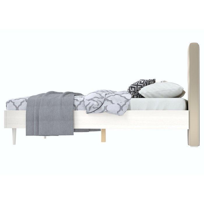 Кровать Альмена 160x200 светло-бежевого цвета